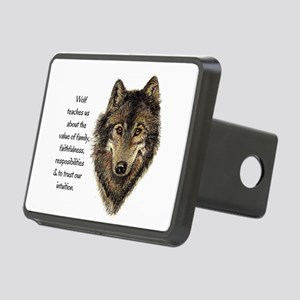 Wolf Totem Animal Guide Watercolor Nature Art Rect
